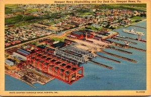 Virginia Newport News The Newport News Shipbuilding and Dry Dock Company Curt...