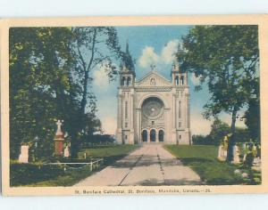 W-Border CHURCH SCENE St. Boniface In Winnipeg Manitoba MB A9563