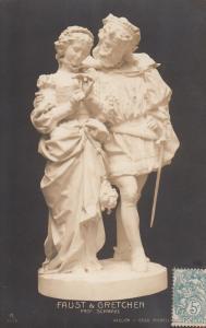 Faust & Gretchen by profesor Schwabe early art postcard