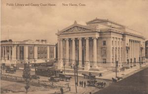 NEW HAVEN, Connecticut, 00-10s; Public Library & County Court House