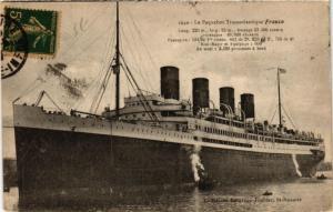 CPA Le Paquebot Transatlantique France SHIPS (783071)