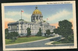 Minnesota The State Capitol St Paul MN Curteich Vintage Linen Postcard