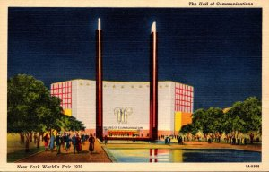 New York World's Fair 1939 The Hall Of Communications Curteich