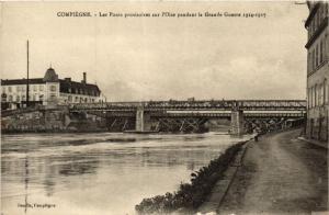 CPA COMPIEGNE-Les Ponts provisoires sur l'Oise pendant Grande Guerre (423904)