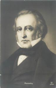 British historian and Whig politician Thomas Babington Macaulay