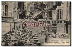 Postcard Old War 1914 1916 Verdun Place Mazel houses bombed