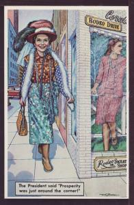 Prosperity Was Just Around Corner Nancy Reagan Postcard 3418