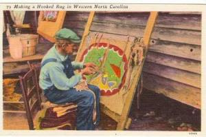 Southern Appalachian Mountains, Making a Hooked Rug in Western North Carolina...