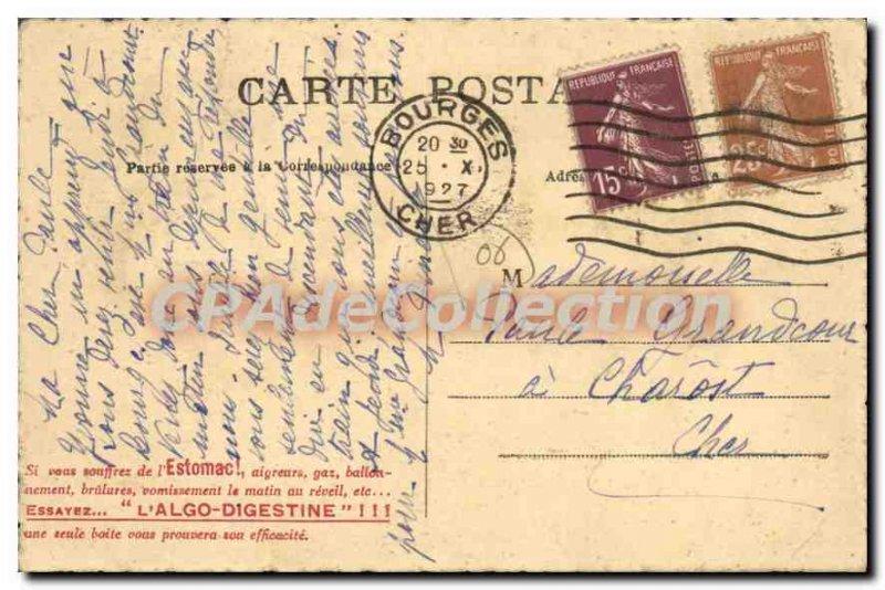 Old Postcard Menton Jardins Du Carei Palms