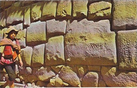 Peru Cuzco The Inca Wall With Stone Of 12 Angles