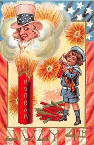Uncle Sam Fourth of July USA Unused