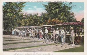 Florida St Petersburg Shuffle Board Courts Mirror Lake Park 1931