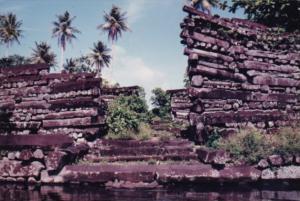 Micronesia Pohnpei Cliff Scene Scene Along Seashore