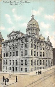 Greensburg Pennsylvania Westmoreland Court House Antique Postcard K98943