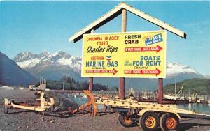 Valdez Alaska~Wyatt House~Chevron Marine Gas Sign~Anchor/Boat Trailers~1974 Pc