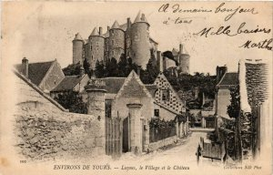CPA Env. de TOURS - Luyues le Village et le Chateau (253452)