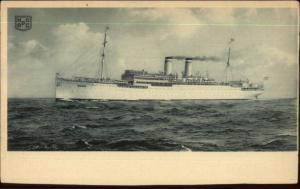 Hamburg Amerika Line Steamship OCEANA c1915 Postcard