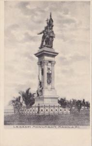 Philippines Manila Legaspi Monument Albertype