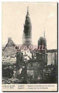 Albert Old Postcard Houses bombed by German