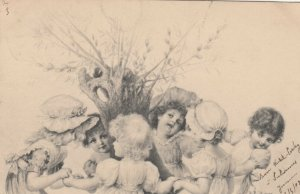 M.M. VIENNE : Dancing kids , 1902 ; Wichera