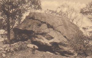 COCHEGAN ROCK, Larfest Boulder in the World, Montville, New London County, Co...