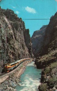 Canyon City, CO, Bottom of Royal Gorge, Streamline Train, 1968 Postcard g8387