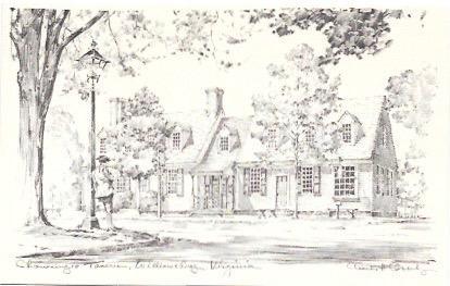 Wonderful drawing - Chowning's Tavern, Williamsburg, Virginia