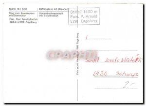 Postcard Modern Stafeli mit Titlis