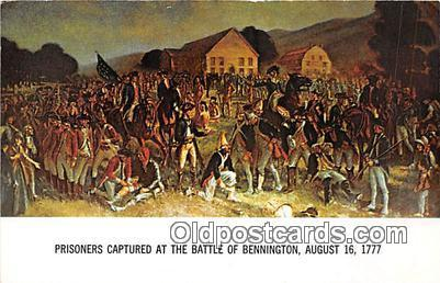 Prisoners Captured Bennington, August 16, 1777 Patriotic Postcard Post Card B...