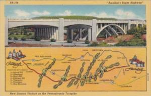 Pennsylvania Turnpike New Station Viaduct Curteich