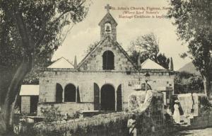 Leeward Islands, NEVIS W.I., St. John Church Figtree (1899) Postcard