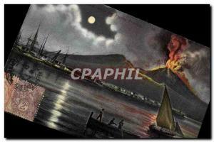 Old Postcard Volcan Napoli Marina vista dal Vesuvio co Punto Frenso