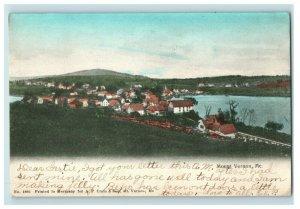 C. 1907 Birds Eye View. Mount Vernon, Me. Postcard F81