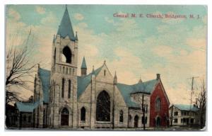 1917 Central M.E. Church, Bridgeton, NJ Postcard
