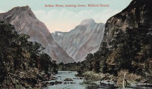 Arthur River , Looking down , Milford Sound , New Zealand , 00-10s