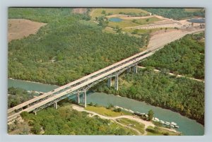 Clays Ferry KY-Kentucky, Twin Bridges Over The Mississippi River Chrome Postcard