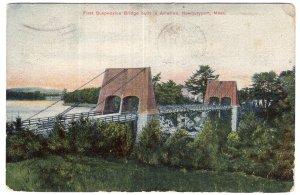 Newburyport, Mass, First Suspension Bridge built in America