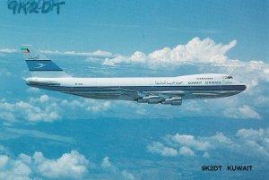 Kaifan Kuwait Plane QSO Postcard QSL Radio Card