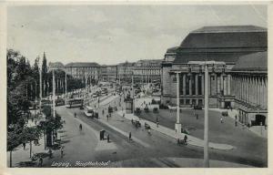 Germany Leipzig Train Station / Gare 1940