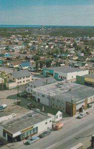 Air view, Downtown Yellowknife,  Northwest Territories,  Canada,  40-60s