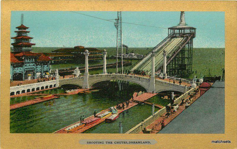 Amusement Shooting Chutes Dreamland American C-1910 postcard 9205