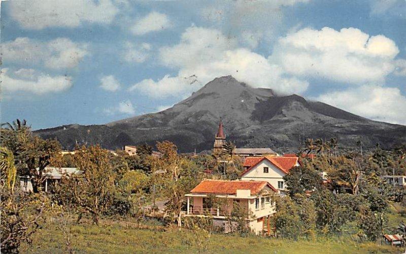 Morne Rogue Village and Mt. Pele Volcano Martinique 1976