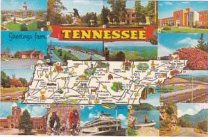 Freetings From Tennessee With Map