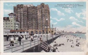 New Jersey Atlantic City Boardwalk And Beach Scene Near Chelsea And Ambassado...