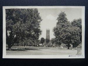 Devon BARNSTAPLE Holy Trinity Church from Rock Park - Old RP Postcard