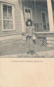 School Girl McKee Jackson County KY Kentucky PMC - Pub by Domestic Board R.C.A.
