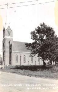 Almena Wisconsin Sacred Heart Catholic Church Real Photo Antique Postcard K94206