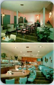 Pasadena, California Postcard COPPER LANTERN COFFEE SHOP Interior c1950s Unused