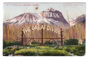 The Great Divide, Canadian Rockies, Alberta, on Line of CPR, Harmon Series