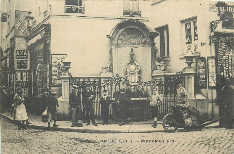 Brussels Belgium Maneken Pis early postcard